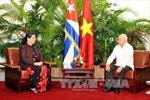 Phó Chủ tịch Quốc hội Tòng Thị Phóng gặp các lãnh đạo Cuba