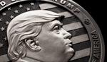 Xưởng vũ khí Nga đúc xu bạc 1kg in hình ông Trump