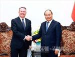 Thủ tướng tiếp Bộ trưởng Thương mại quốc tế Vương quốc Anh và Bắc Ailen