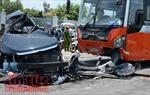 Đấu đầu xe khách giường nằm, lái xe 16 chỗ tử vong tại chỗ