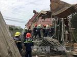 Hiện trường vụ sập giàn giáo làm 7 người bị thương