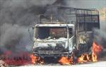 Hỏa hoạn thiêu rụi xe tải chở sắn trên đèo Violắc, Quảng Ngãi