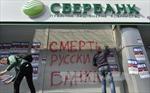 Ngân hàng lớn nhất của Nga ngừng hoạt động tại Ukraine