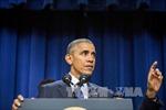 Ông Obama lần đầu xuất hiện trước công chúng kể từ khi rời Nhà Trắng