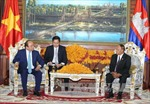 Thủ tướng hội kiến Chủ tịch Thượng viện và Chủ tịch Quốc hội Campuchia
