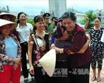 Đồng chí Tòng Thị Phóng kiểm tra tiến độ xây dựng Khu Di tích lịch sử Việt - Lào