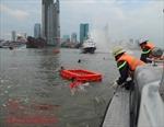 Hồi hộp, kịch tính với diễn tập ứng cứu nổ tàu chở khách trên sông Sài Gòn