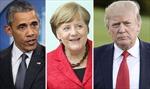 Trong cùng một ngày, bà Merkel gặp hai Tổng thống Mỹ