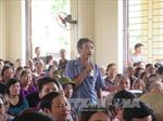 Lãnh đạo Hải Dương đối thoại với người dân về việc doanh nghiệp xả thải gây ô nhiễm