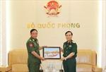 Phó Tổng Tham mưu trưởng Quân đội nhân dân Việt Nam tiếp Đoàn đại biểu Cục Thông tin, Quân đội Myanmar