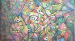 Triển lãm mỹ thuật với chủ đề 'Sắc hoa Bắc Trung Nam'