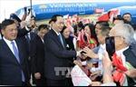 Chủ tịch nước Trần Đại Quang và Phu nhân bắt đầu chuyến thăm chính thức Belarus