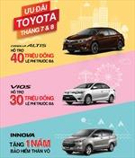 Toyota Việt Nam công bố khuyến mãi 'sâu' một số dòng xe