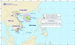 Vùng áp thấp đã mạnh lên thành áp thấp nhiệt đới trên khu vực Bắc biển Đông