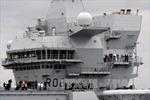 Tàu chiến lớn nhất của Anh lần đầu tiên cập cảng quê hương