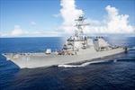Tàu khu trục Mỹ USS John S. McCain chịu 'thương tích' tự rẽ sóng về cảng