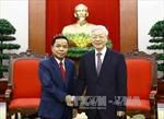 Tổng Bí thư tiếp Đoàn đại biểu Văn phòng Trung ương Đảng NDCM Lào
