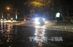 Mưa kéo dài gần 2 tiếng, thành phố Điện Biên Phủ chìm trong biển nước