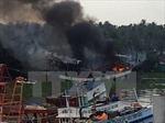 Cháy 2 tàu cá gây thiệt hại hàng tỷ đồng