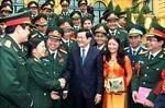 Chủ tịch nước Trương Tấn Sang gặp mặt các đại biểu Thanh niên Quân đội