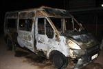 Xe khách bốc cháy, 3 hành khách bị bỏng