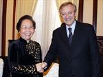 Phó Chủ tịch nước Nguyễn Thị Doan tiếp Tổng Giám đốc Tổ chức Quốc tế Pháp ngữ