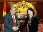 Phó Chủ tịch Quốc hội Nguyễn Thị Kim Ngân tiếp Chủ tịch Nhóm Nghị sỹ hữu nghị Thái - Việt