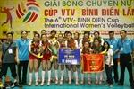 Giải bóng chuyền nữ Quốc tế cúp VTV 2012: CLB Giang Tô - Trung Quốc đoạt chức vô địch
