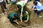 Điểm chôn hài cốt liệt sĩ tại Quảng Trị: Tìm thấy 14 hài cốt