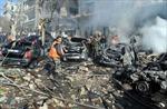 Hình ảnh về vụ nổ bom làm 27 người chết và hàng trăm người bị thương ở Xyri