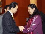 Phó Chủ tịch QH Tòng Thị Phóng tiếp Chủ tịch Liên minh Nghị sỹ hữu nghị Nhật -Việt