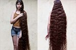 Cô bé có mái tóc dài 1,55 mét
