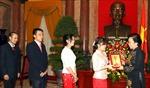 Phó Chủ tịch nước Nguyễn Thị Doan tiếp Đoàn đại biểu lưu học sinh Lào