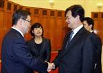 Thủ tướng tiếp Tỉnh trưởng tỉnh Aichi (Nhật Bản)