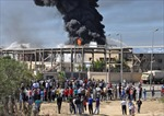 Cháy lớn tại công ty lọc dầu, 5 người thiệt mạng