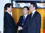 Thủ tướng Nguyễn Tấn Dũng tiếp Phó Thủ tướng Nhật Bản