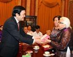 Chủ tịch nước Trương Tấn Sang gặp gỡ Đoàn đại biểu cựu tù chính trị và cựu tù binh TP Hồ Chí Minh