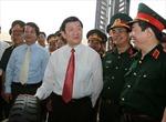 Chủ tịch nước Trương Tấn Sang thăm và làm việc với Quân khu 2
