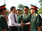 Chủ tịch nước Trương Tấn Sang thăm và làm việc với BTL Quân khu 5 và Vùng 3 Hải quân