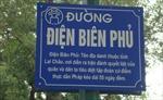 Biển tên đường: 'Điện Biên Phủ ở Lai Châu'