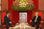 Tổng Bí thư Nguyễn Phú Trọng tiếp Bộ trưởng Ngoại giao Indonesia