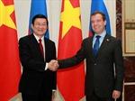 Chủ tịch nước Trương Tấn Sang hội kiến Thủ tướng Nga