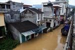 Nước sông Hiến tràn đê gây lụt ở Cao Bằng