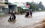 Mưa lớn gây ách tác giao thông trên quốc lộ 70