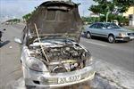 Lại cháy xe ô tô ở TP. HCM