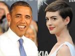 Obama mê mẩn 'miêu nữ' Anne Hathaway