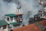 Cháy khu nhà gỗ phố Vọng Hà, Hà Nội