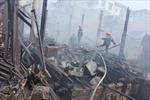 Video cháy khu nhà gỗ phố Vọng Hà, Hà Nội