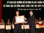 Trao Giải thưởng Hồ Chí Minh, Giải thưởng Nhà nước về KHCN lĩnh vực quốc phòng an ninh