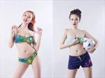 Angela Phương Trinh sexy bên trái bóng cùng HAPPY8 VN